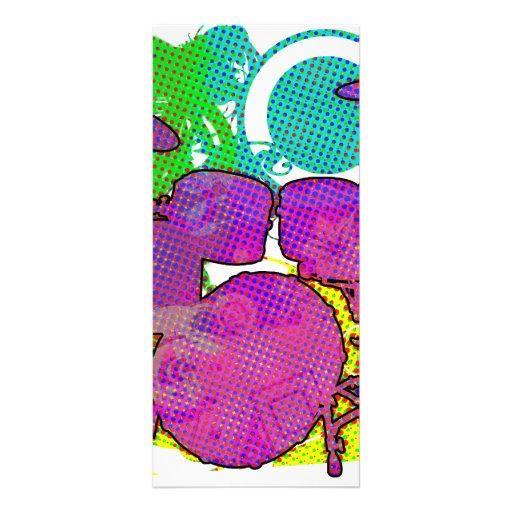 drum kit rack card template