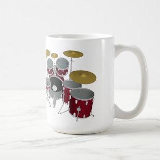 Drum Kit (red) - Double Kick - Coffee Mug