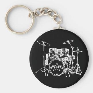 Drum Kit Special Basic Round Button Keychain