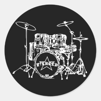 Drum Kit Special Classic Round Sticker