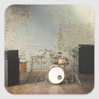 Drum Kit Square Sticker