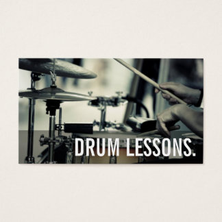 Drum lessons business cards