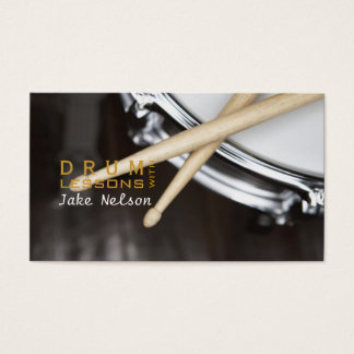 Drum Lessons, Instrument, Music Business Card