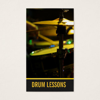 Drum Lessons, Instrument Music Instructor Business Card