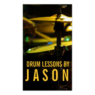 Drum Lessons Instrument Music Instructor Business Card