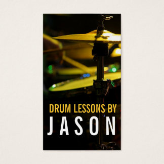 Drum Lessons Music Instructor Business Card
