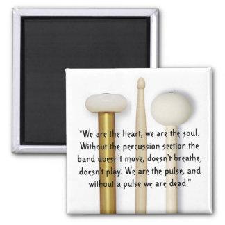 Drum Line 2 Inch Square Magnet