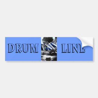 Drum Line Colorized Bumper Sticker
