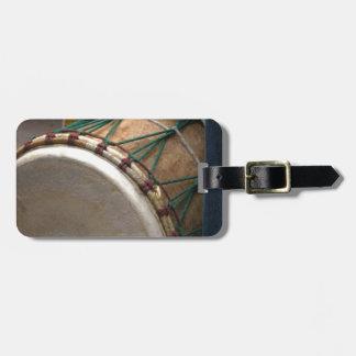 drum luggage tag