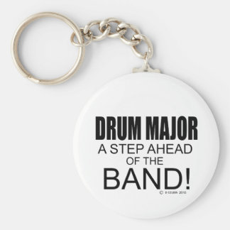 Drum Major A Step Ahead of the Band! Basic Round Button Keychain