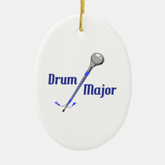 DRUM MAJOR CERAMIC ORNAMENT