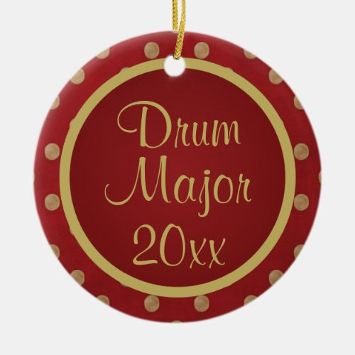 Drum Major Customized Music Ornament Gift