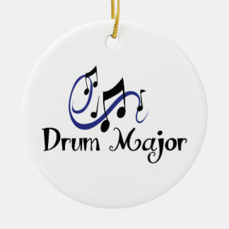 DRUM MAJOR Double-Sided CERAMIC ROUND CHRISTMAS ORNAMENT