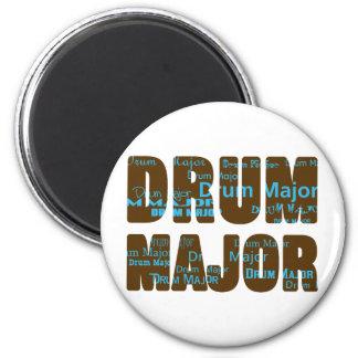 Drum Major Font 2 Inch Round Magnet