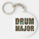 Drum Major Font Keychains