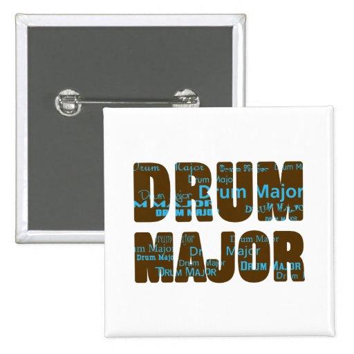 Drum Major Font Pinback Buttons