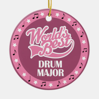 Drum Major Gift For Her Double-Sided Ceramic Round Christmas Ornament
