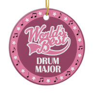 Drum Major Gift For Her Ornaments