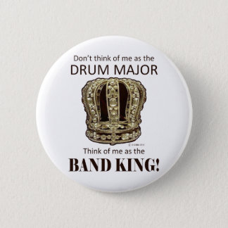 Drum Major King Button