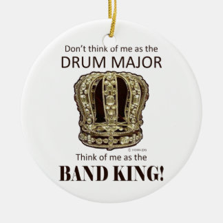 Drum Major King Double-Sided Ceramic Round Christmas Ornament