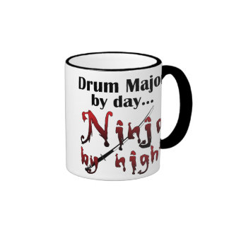 Drum Major Ninja Ringer Coffee Mug