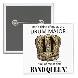 Drum Major Queen 2 Inch Square Button