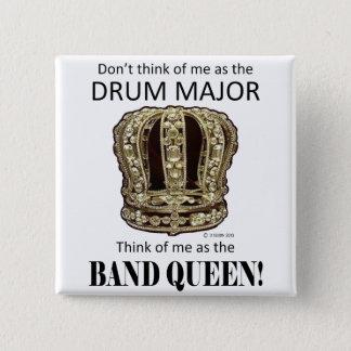 Drum Major Queen Button