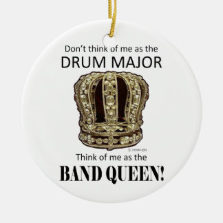 Drum Major Queen Double-Sided Ceramic Round Christmas Ornament