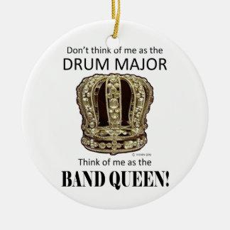 Drum Major Queen Christmas Ornament