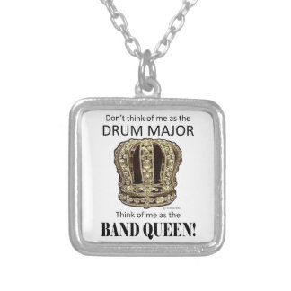 Drum Major Queen Silver Plated Necklace