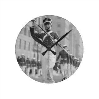 Drum Major Round Clock