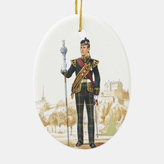 Drum Majpr, Royal Scots Ceramic Ornament