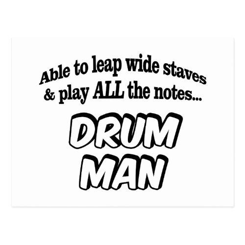 Drum Man _ Music Superhero Postcard