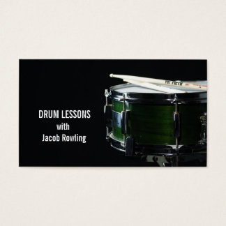 Drum, Music, Lessons Business Card