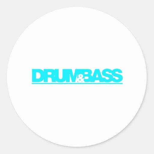 Drum N Bass - DJ Disc Jockey Vinyl Music Classic Round Sticker