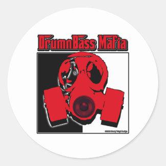 DRUM n BASS music Mafia drum and bass Classic Round Sticker