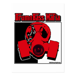 DRUM n BASS music Mafia drum and bass Postcard