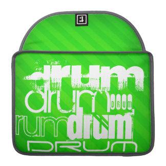 Drum; Neon Green Stripes MacBook Pro Sleeves