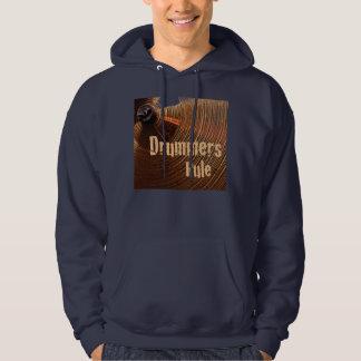 Drum or Drummer Drummers Rule Hoodie Shirt