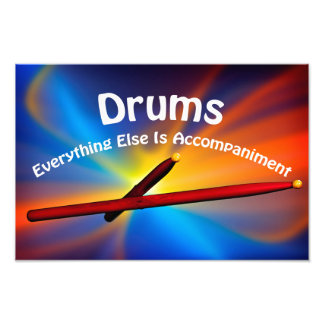 Drum Percussion Boster Many Sizes Photo Print