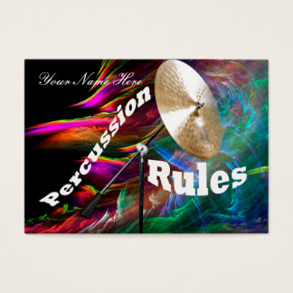 Drum Percussion Business Cards ADD YOUR TEXT