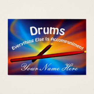 Drum Percussion Business Cards Many Colors