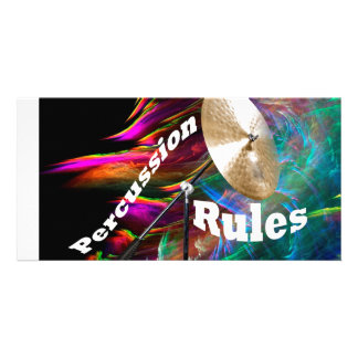 Drum Percussion Card or Invitation YOUR TEXT Photo Card
