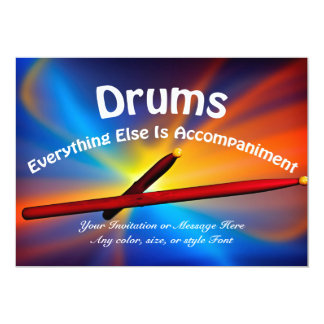 Drum Percussion Cards Many Sizes