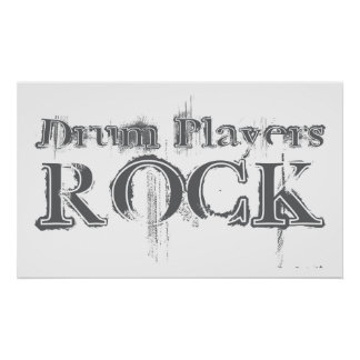 Drum Players Rock Poster