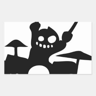 drum.png rectangular sticker