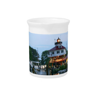 Drum Point Lighthouse Drink Pitchers