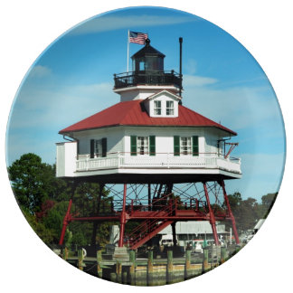 Drum Point Lighthouse Solomons Plate Porcelain Plate