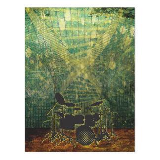 drum poster grunge-1b post card