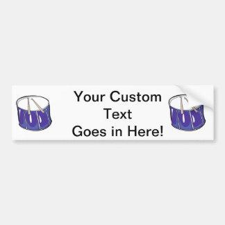 drum purple handdrawn look.png bumper sticker